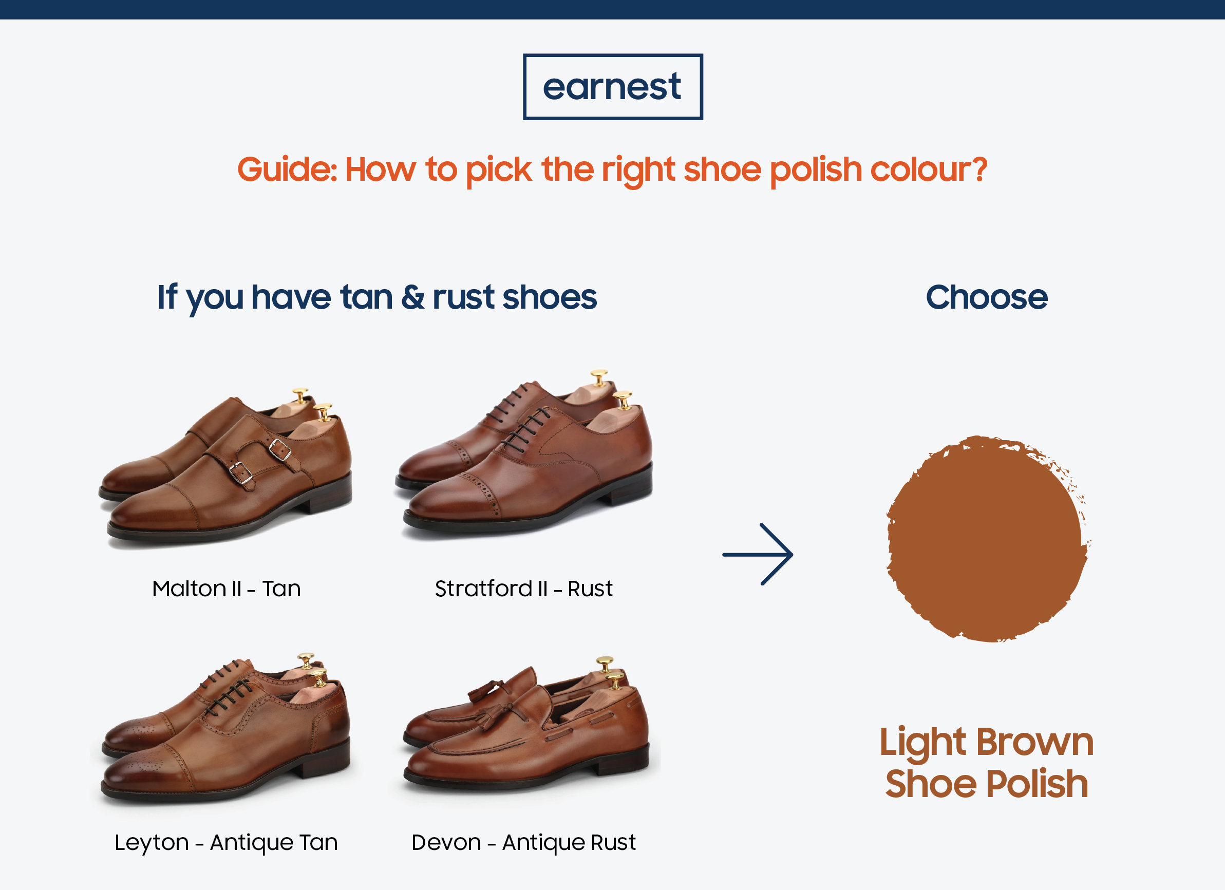 right shoe polish colour for your shoes
